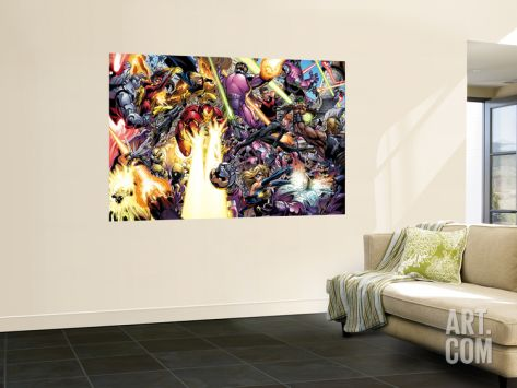 The Mighty Avengers No.9 Group: Iron Man, Wasp and Black Widow Wall Mural by Mark Bagley at Art.com