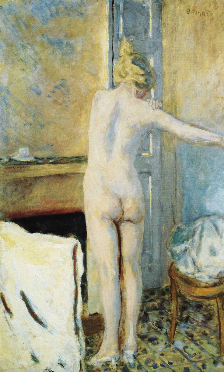 Représentation de la femme à sa toilette par Pierre Bonnard - Eclaircie après la…