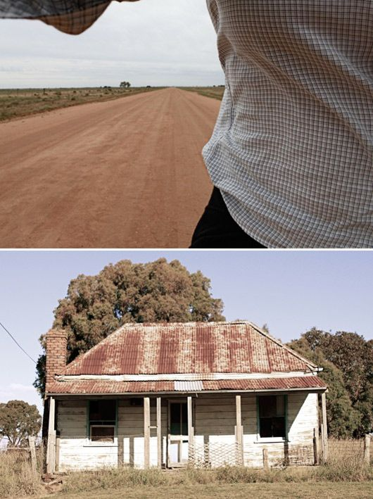 from a recent road trip to the outback – an australian, dirt highway & old, forgotten cottage