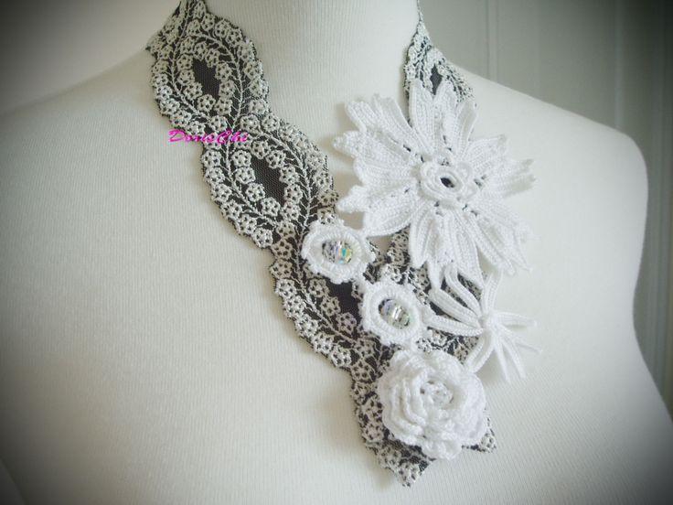 Mejores 193 imágenes de Crochet earrings & necklaces - tutorials ...