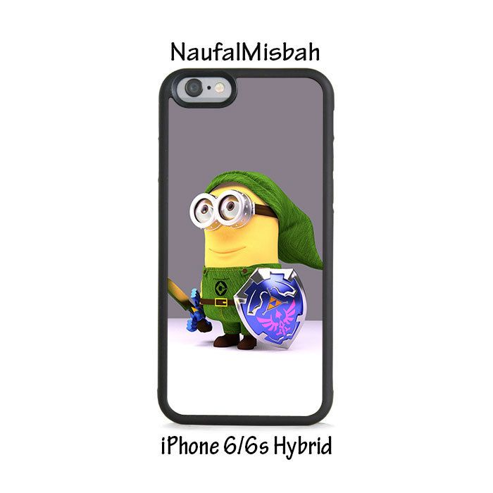 Ocarina of Time Zelda Despicable Me Minion iPhone 6/6s HYBRID Case Cover