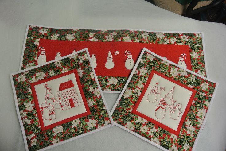 Vianočný obrus a prestieranie