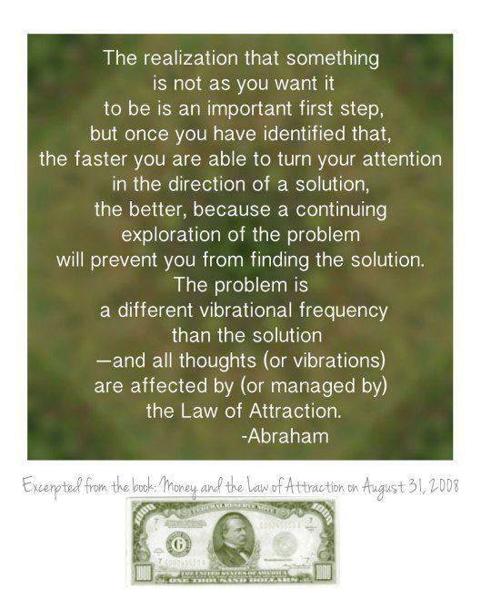 Abraham-Hicks, Money and the LoA