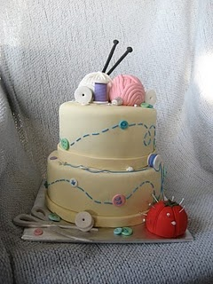 Knitting Cake --it's my birthday cake!!!