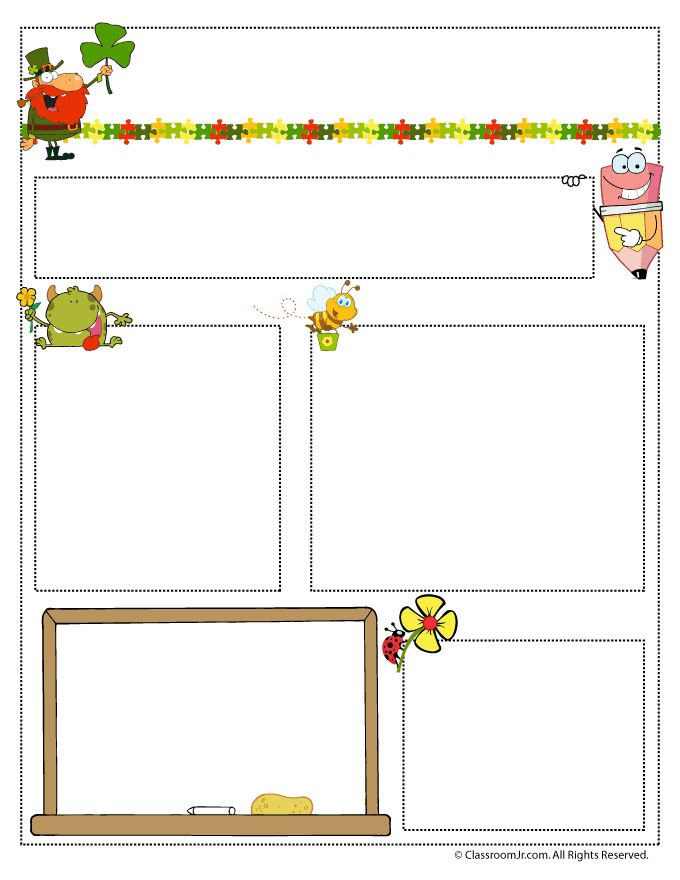 March Teacher Newsletter Template | Classroom Jr.  Free School Newsletter Templates For Word