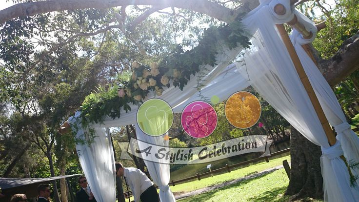 Fresh roses and fern line top the wedding arch for this Vintage wedding. #vintage #roses #freshflowers #arch #wedding #love #ceremony #gorgeous #soft #pretty #astylishcelebration www.astylishcelembration.com.au