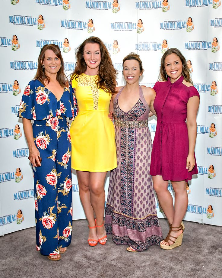 Kay Milbourne (Alternate Donna), Gillian Ford (Ensemble), Rebecca Seale (Ensemble) and Blaise Colangelo (Lisa).  We ❤️ this f-ABBA-lous photo from the MAMMA MIA! UK Tour's Press Night on 31 May 2017 at Leeds Grand Theatre.  For all MAMMA MIA! UK Tour dates and tickets visit: www.mamma-mia.com  Photo by Anthony Robling.  #MammaMiaMusical #MammaMiaUKTour #Leeds #PressNight