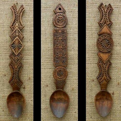 Romanian wood spoon