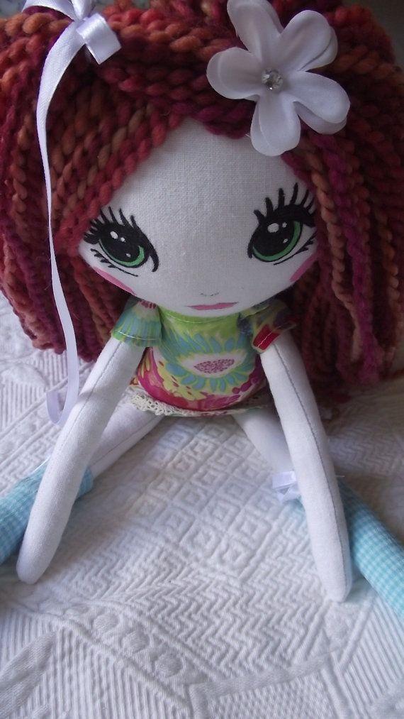 Handmade Cloth Doll Anna by PapilloteCreations on Etsy