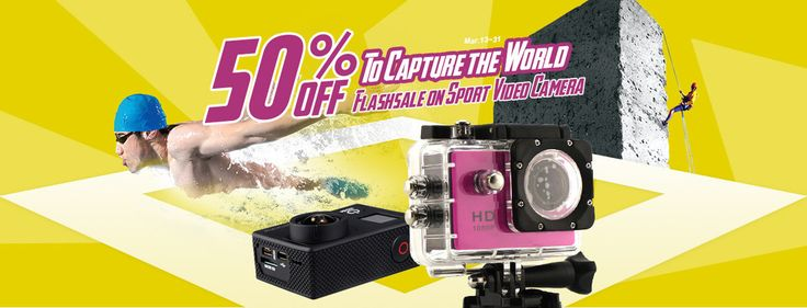 Sport Video Camera, 50% OFF Flash sale, freeshipping from Focalprice - Mobiles-Coupons