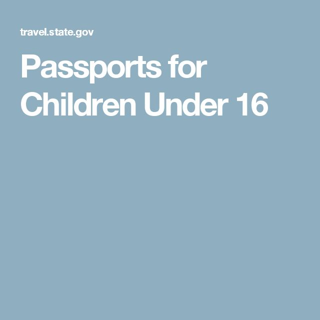 Passports for Children Under 16
