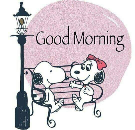 Good Morning! --Peanuts Gang/Snoopy & friend