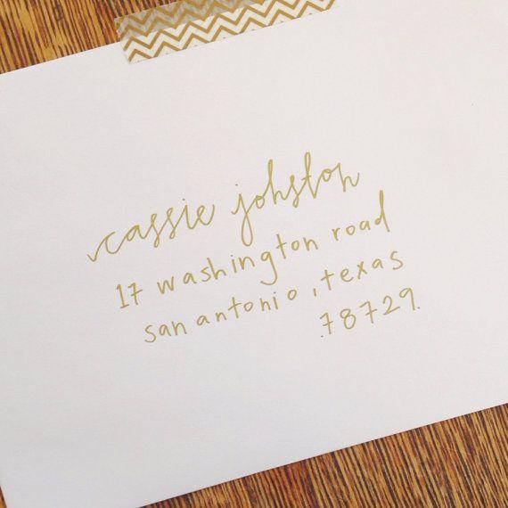 Wedding Hand Lettering Envelope Addressing- Elm on Etsy, $1.75