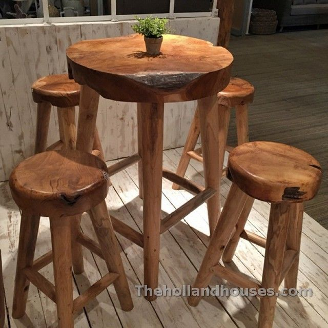 Rustic Pub Table And Chairs Banquinho Rustico Decoracao Moveis