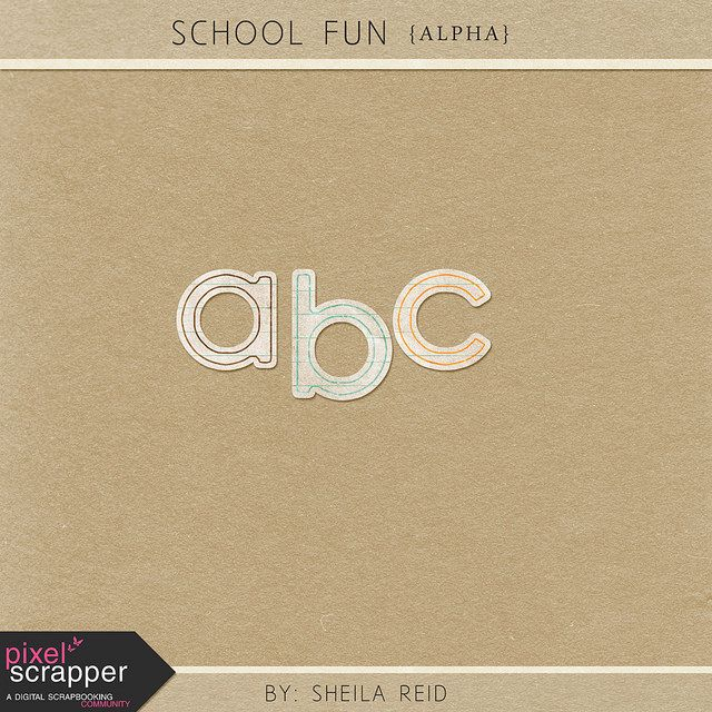 Quality DigiScrap Freebies: School Fun alpha freebie from Sheila Reid