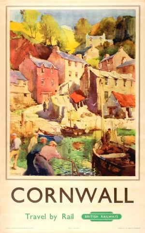 Cornwall British Railways Jack Marriott, 1950 - original vintage poster by Jack Marriott listed on AntikBar.co.uk