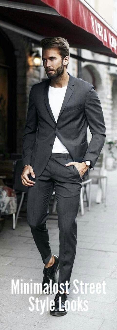 Minimalist Street Style Looks For Men #minimalist #mensfashion