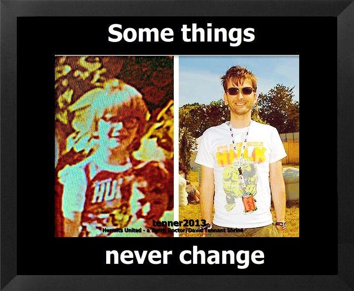 David Tennant age 7. David Tennant age 40. Some things never change.