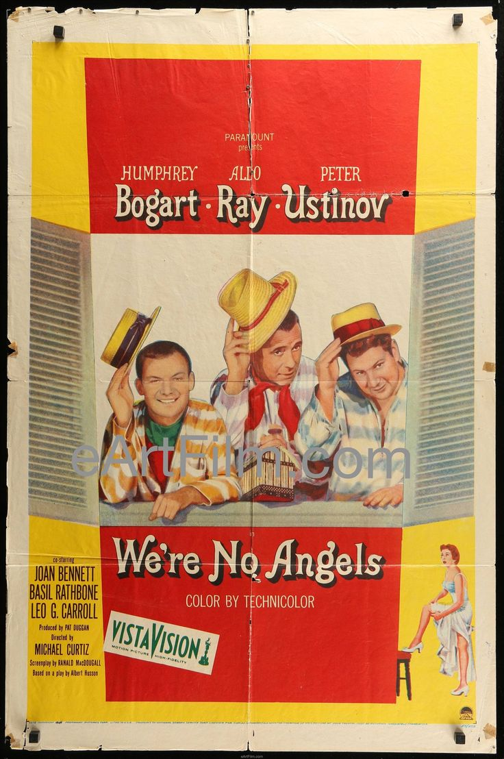 Happy Birthday #HumphreyBogart https://eartfilm.com/search?q=bogart #actors #acting #Broadway #theater #movies #film #cinema #classiccinema #Bogart   We're No Angels 1955 27x41 Humphrey Bogart-Aldo Ray-Peter Ustinov Comedy