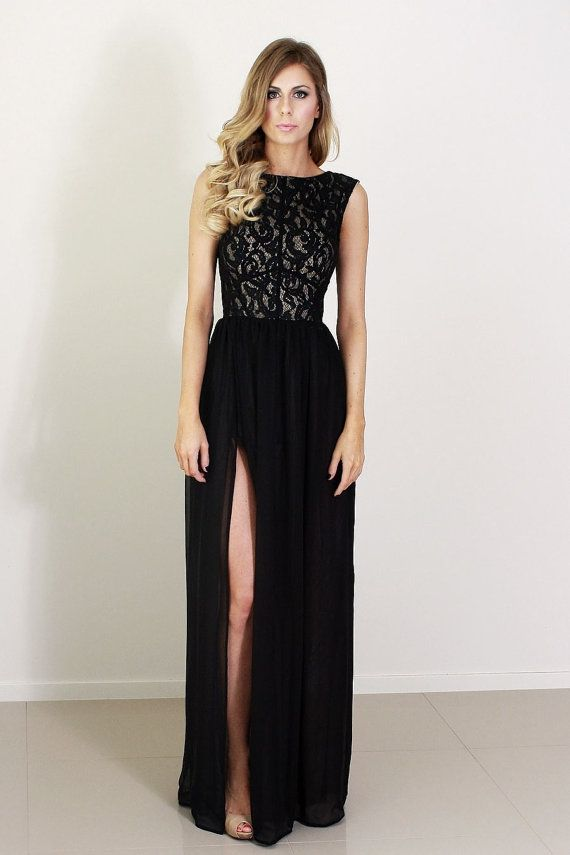 elegant black lace dresses - photo #11