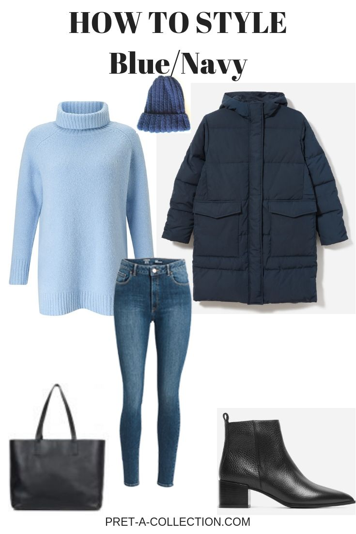 how to style add blue navy to a capsule wardrobe tenues faciles idee