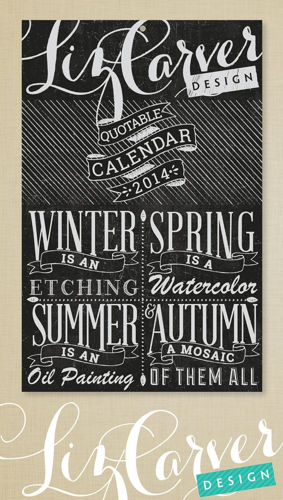 Typography Wall Calendar : Best images about quotable wall calendar on