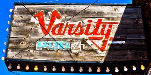 Weathered bar sign, Vermillion, South Dakota