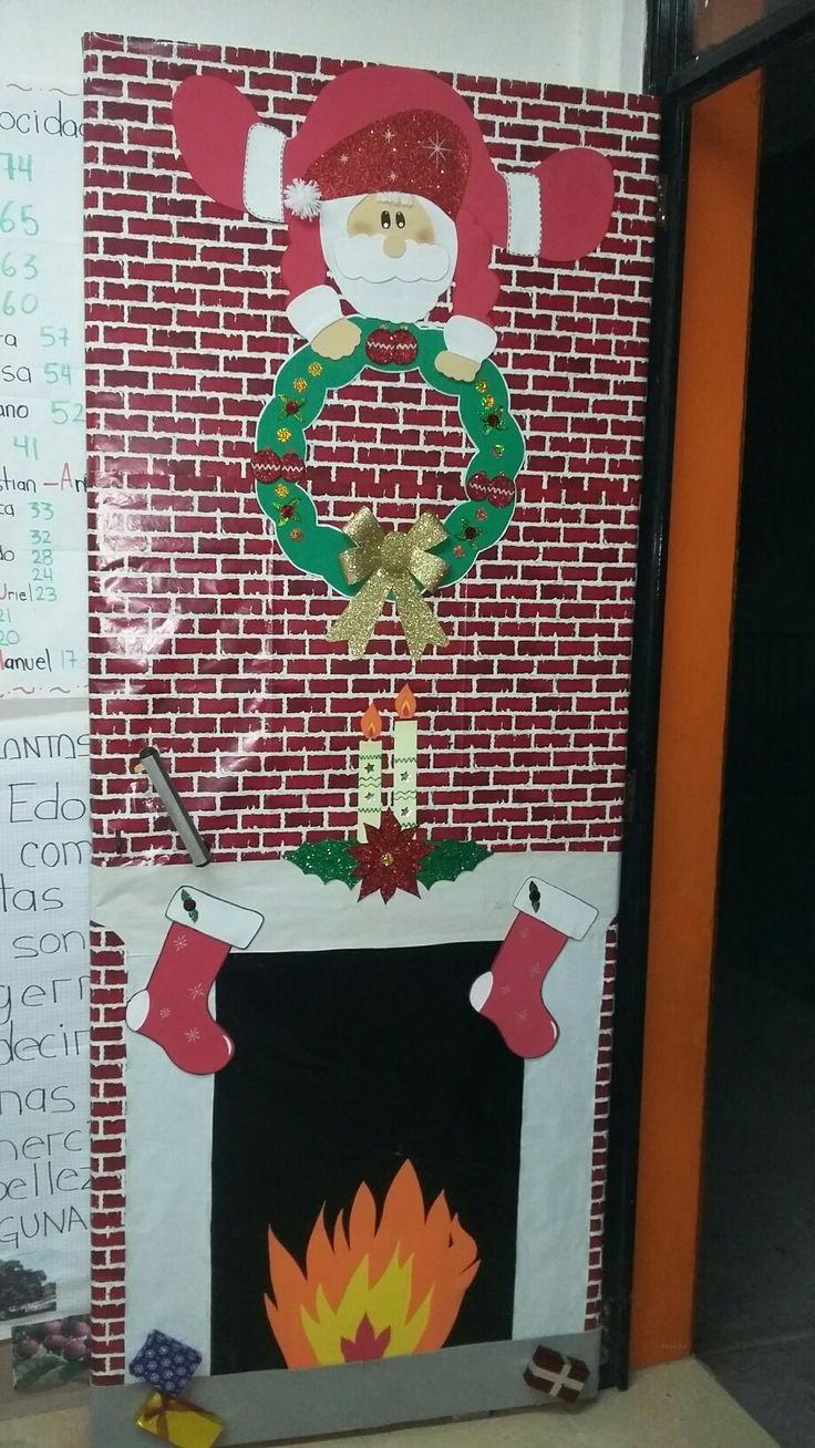 Mes de diciembre educ puertas decoradas de navidad for Puertas decoradas de navidad para preescolar