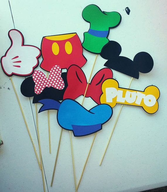 Mickey Mouse and Minnie Mouse Photo booth props