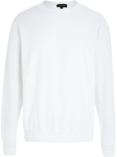 River Island White Crew Neck Sweatshirt @Lyst