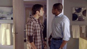 dance dancing party celebrate fuck yeah dule hill dul hill shawn spencer burton guster dance f #gif from #giphy