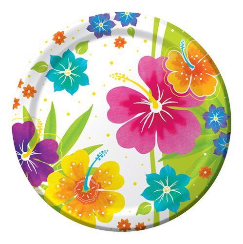 tropical+paper+napkins | Floral Luau Party Supplies  sc 1 st  Pinterest & 97 best tropical party ware images on Pinterest | Tropical party ...