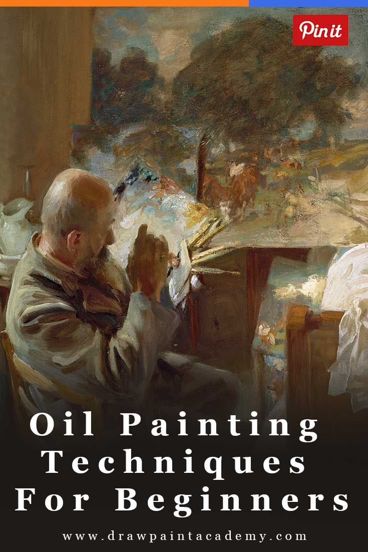 Oil Painting Techniques For Beginners via @drawpaintacadem