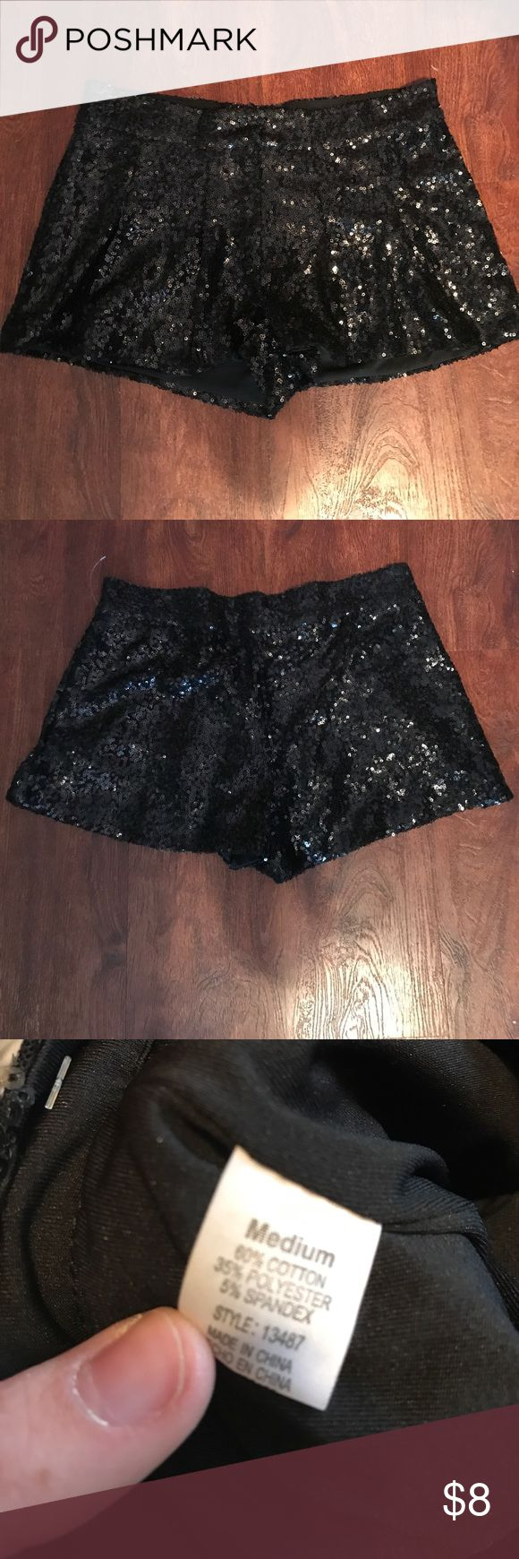 Black sequin shorts Never worn purchased from Mandees mandee Shorts