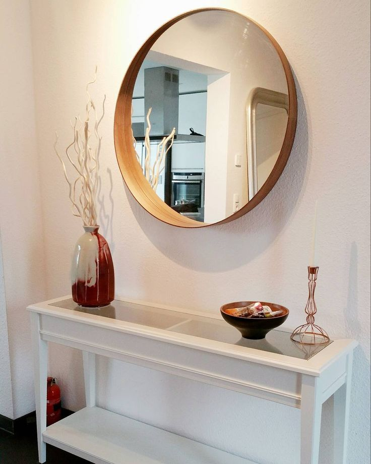 Beautiful & simple entryway - Ikea 'Stockholm' mirror & 'Liatorp' console table @wooyoun81