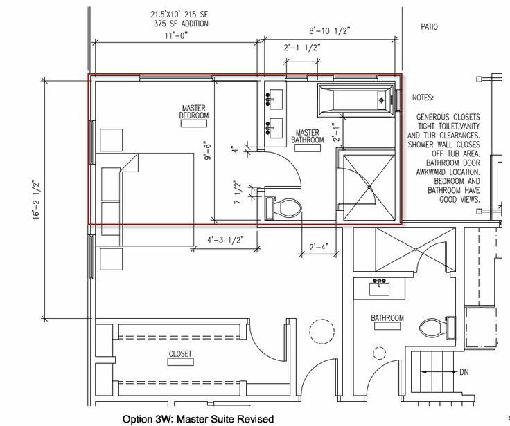 Image On Master Suite Addition Plans Master Bath Addition Layout Help Remodeling Forum GardenWeb