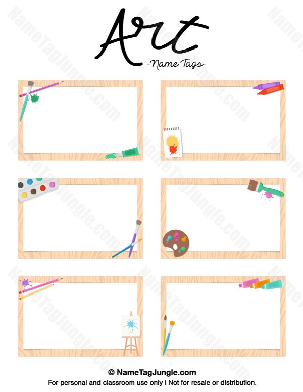 name templates for preschool - free printable art name tags the template can also be