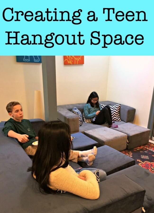 When our teens wanted to spend all of their time over at friends' houses, it made us realize that we needed to create a good teen hangout room in our own home. Here's how we re-worked our finished basement to create a cozy lounge for our tweens and teens!