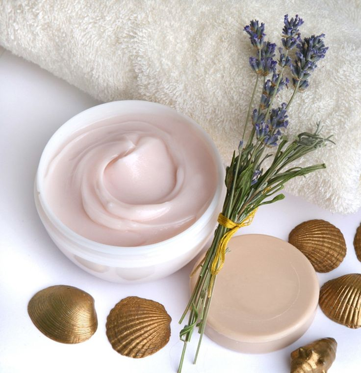 hacer crema cosmetica corporal de lavanda