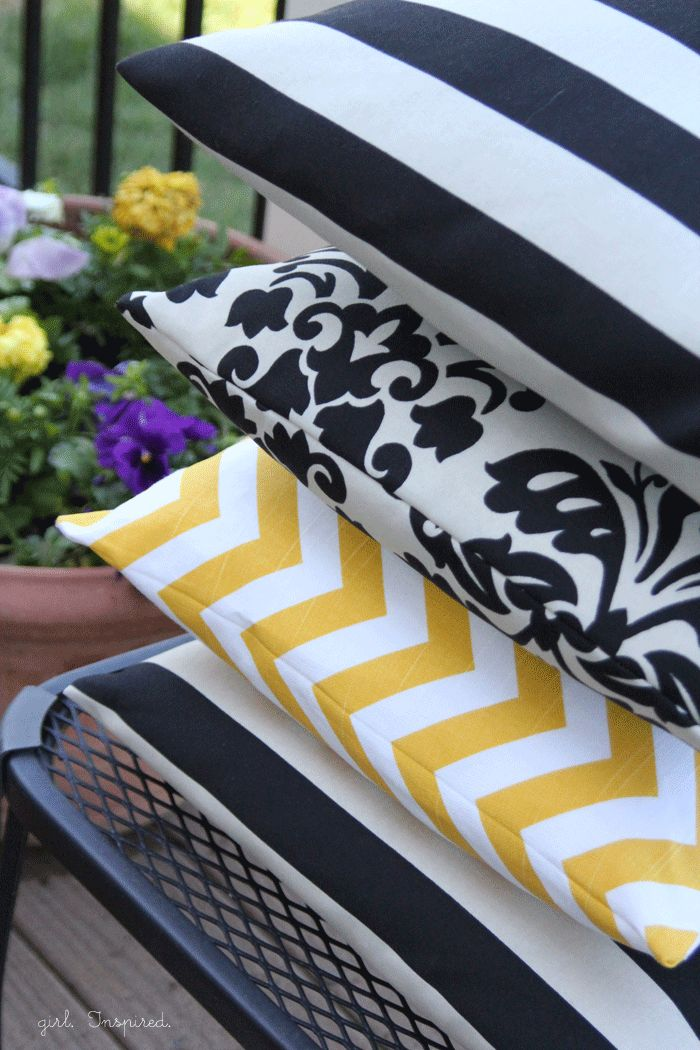 How to make a Pillow - simple sewing tutorial