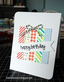 While surfing Pinterest I found some cute cards made with washi tape. So since I have a nice collection of the tape, I thought it would be...