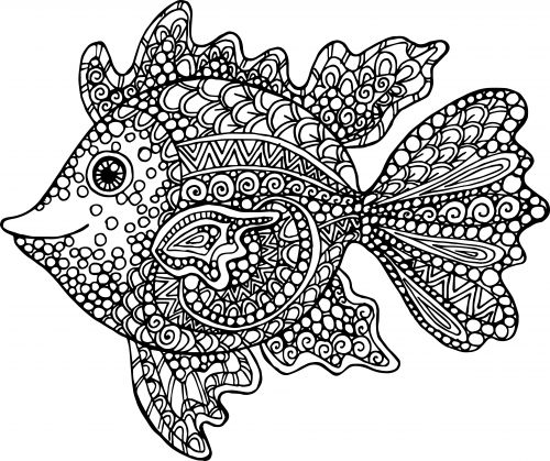 exotic fish coloring page