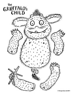 Kidtoons coloring sheet for The Gruffalo's Child.