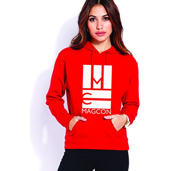 MAGCON Logo Hoodie (red) ($40) ❤ liked on Polyvore featuring tops, hoodies, magcon, red, red hoodies, logo tops, red hooded sweatshirt, red top and logo hoodie