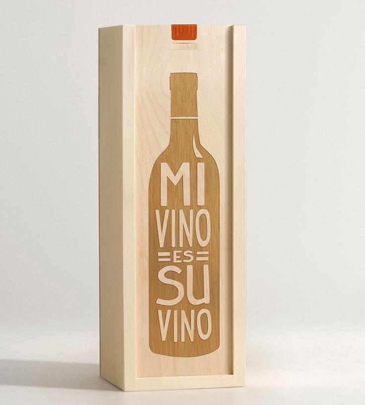 Mi Vino Es Su Vino Wine Box by Artificer Wood Works on Scoutmob