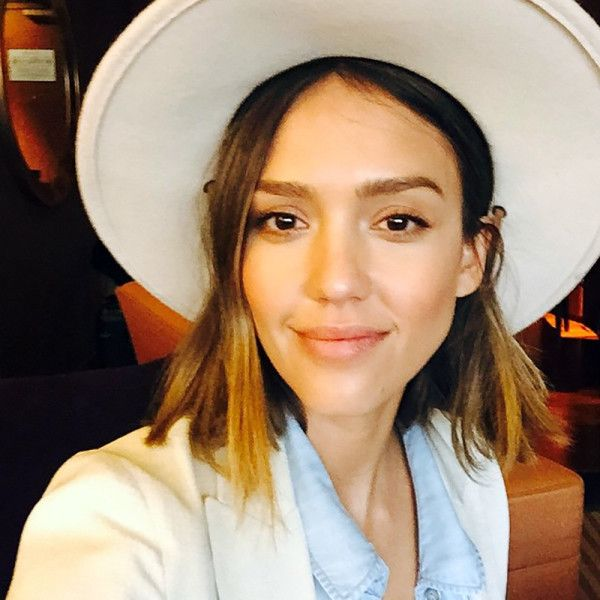Jessica Alba's fresh faced look