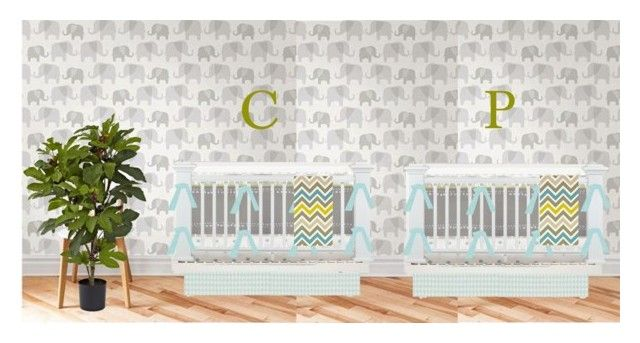 """Twin Boy Nursery Idea"" by smwlraleigh on Polyvore featuring interior, interiors, interior design, home, home decor, interior decorating and Nearly Natural"