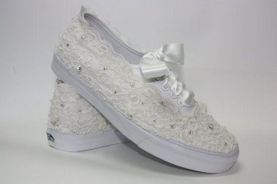 Wedding Vans  Lace Vans  Bridal Tennis Shoes  Lace by Parisxox, $310.00