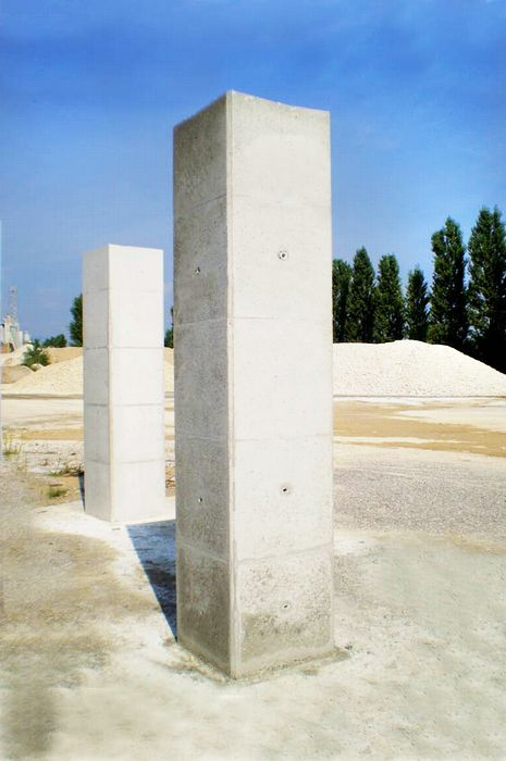 GEOPANEL STAR final result. Square #columns made of #concrete