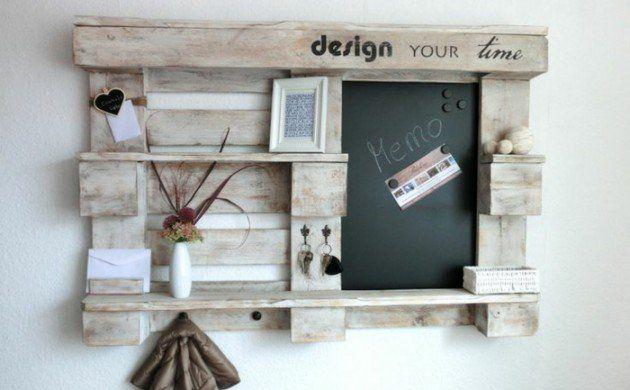 möbel-aus-paletten-flur-garderobe-holz-diy-ideen | diy und, Innenarchitektur ideen